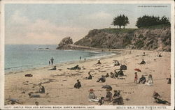 Castle Rock and Bathing Beach
