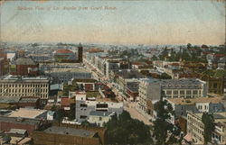 Birdseye View of City From Court House Postcard
