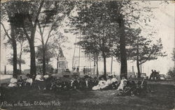 A Picnic in the Park Postcard