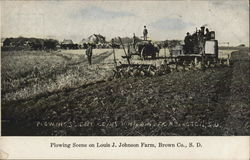 Plowing Scene on Louis J. Johnson Farm