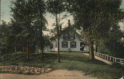 Hillside Cottage Postcard