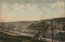 Wachusett Dam, Waste Channel and Mass. Central R.R. Bridge