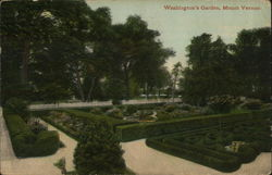 Washington's Flower Garden Postcard