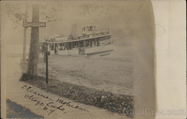 Steamer Mohican, Otsego Lake Cooperstown New York Steamers