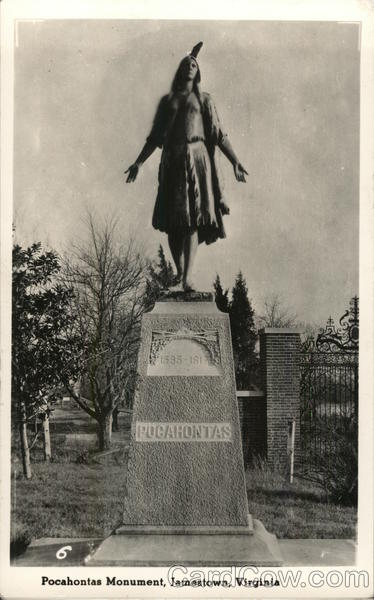 Pocahontas Monument Jamestown Virginia