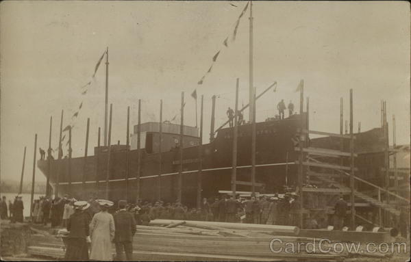 Prince Leopold Being Built Boats, Ships
