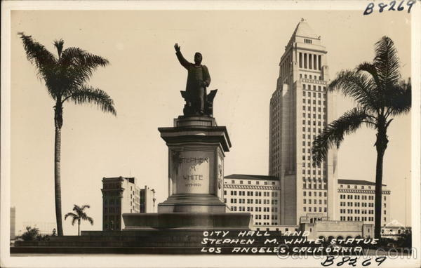 City Hall and Stephen M. White Statue Los Angeles California