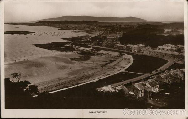 Overview of Millport Bay Scotland