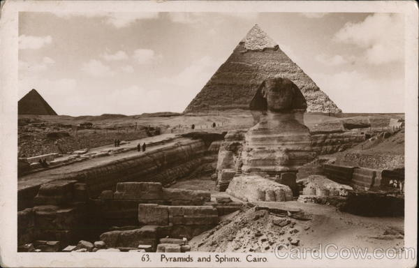 Pyramids and Sphinx Cairo Egypt Africa