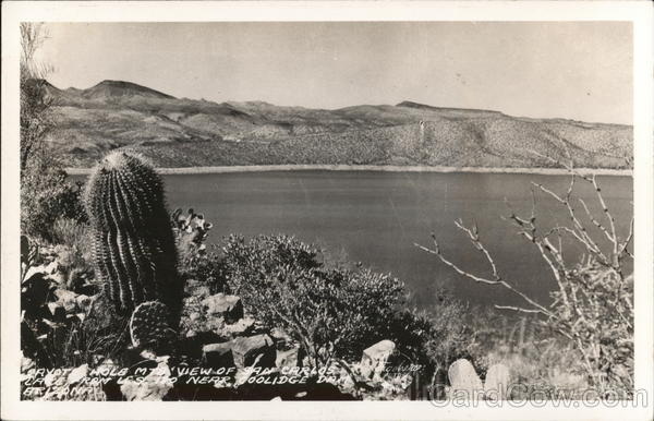 Payot Hole Mt. View of San Carlos from U.S. Coolidge Dam Arizona