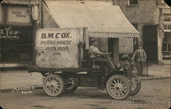 B.M. Cox Piano House Delivery Truck South Bend Indiana
