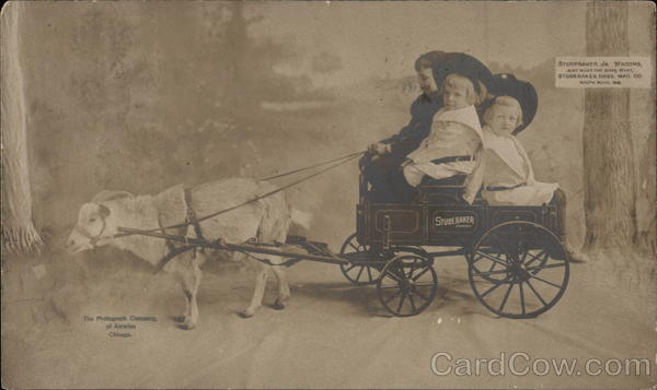 Studebaker Junior Wagon w/Kids Goat Cart, Studebaker Bros. Mfg. Co. South Bend Indiana