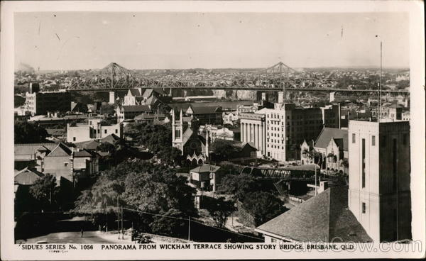 Panorama From Wickham Terrace Showing Story Bridge Brisbane Australia