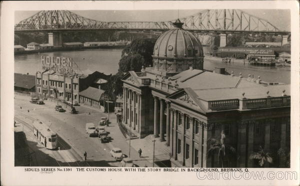 Customs House With the Story Bridge in Background, Queensland Brisbane Australia