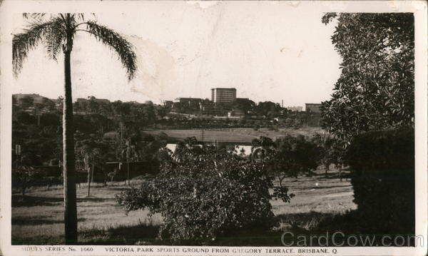 Victoria Park, Sports Ground From Gregory Terrace Brisbane Australia