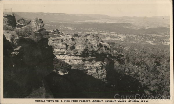 Murray Views No. 2 From Padley's Lookout, Hassan's Walls Lithgow Australia