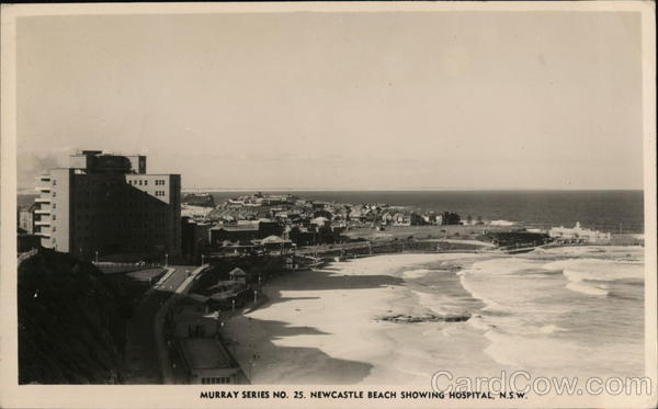 Beach, Showing Hospital, New South Wales Newcastle Australia