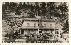 Built By Washoe Seeress of Virginia City Fame Postcard