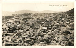 View of Virginia City, Nevada Postcard