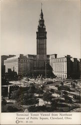 Terminal Tower Viewed from Northeast Corner of Public Square
