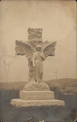Dr. Jackson's Monument Stone with Angel, Cross
