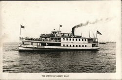 The Statue of Liberty Boat Postcard