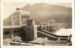 Bonneville Dam From Washington Side Looking Towards Oregon