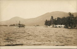 "Steamer ""Mohegan"" at Pearl Point, Lake George"