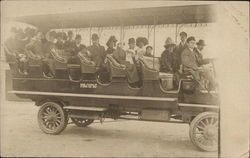 "Passengers Riding on Open Air ""Pacific"" Bus, 1910"