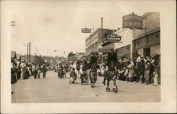 Navajo Indians in Parade Postcard