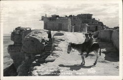 Main Street of Walpi, Hopi Indian Village Postcard