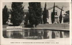 The Reflection Pool and Whitfield Court, University of W.A.