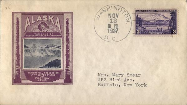 Alaska - Child's Glacier First Day Covers