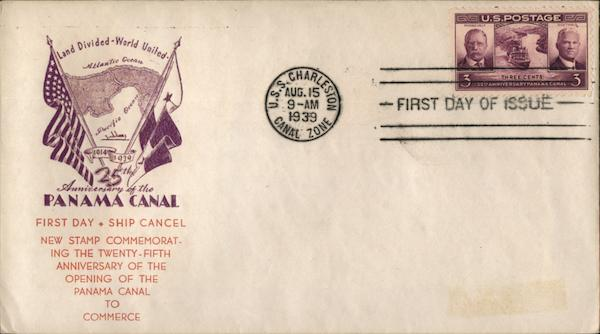 25th. Anniversary of the Panama Canal First Day Covers