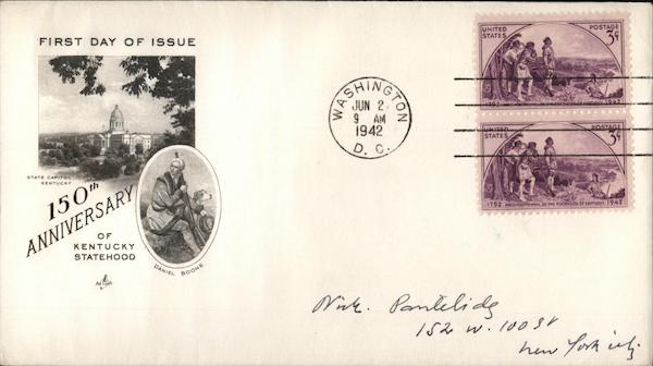 150th Anniversary of Kentucky Statehood First Day Covers