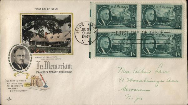 In Memoriam Franklin Delano Roosevelt First Day Covers