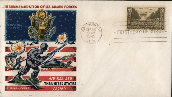 In Commemoration of US Armed Forces First Day Covers
