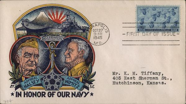 IN HONOR OF OUR NAVY First Day Covers