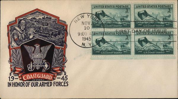 Coast Guard 1945 - In Honor of Our Armed Forces First Day Covers