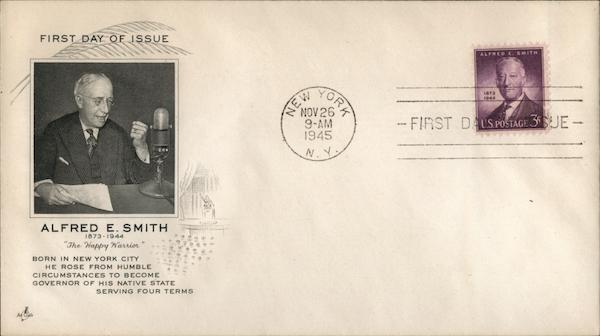 Alfred E. Smith 1873-1944 First Day Covers