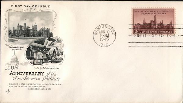 100th Anniversary of the Smithsonian Institute First Day Covers