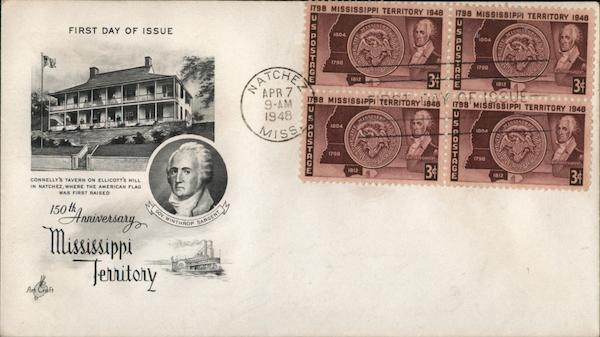 150th Anniversary Mississippi Territory 1798 - 1948 Gov. Winthrop Sargent