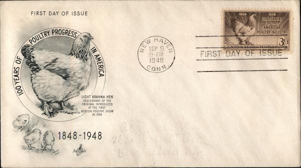100 Years of Poultry Progress in America First Day Covers