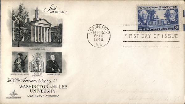 200th Anniversary Washington and Lee University First Day Covers