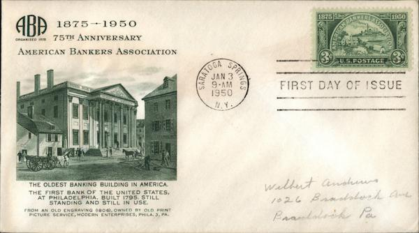 1875-1950 75th Anniversary American Bankers Association