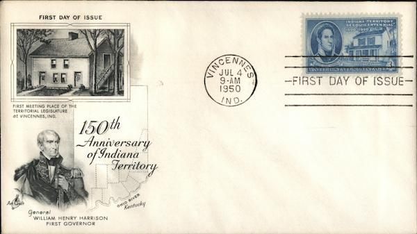 150th Annibversary of Indiana Territory First Day Covers