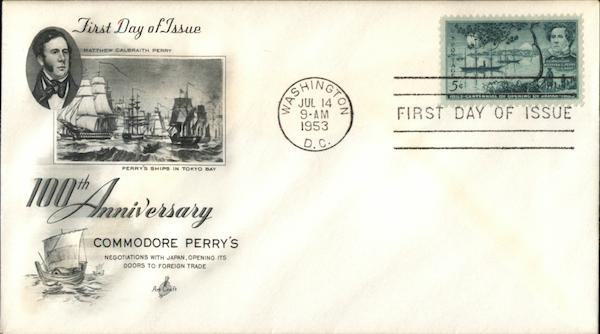 100th Anniversary Commodore Perry's First Day Covers