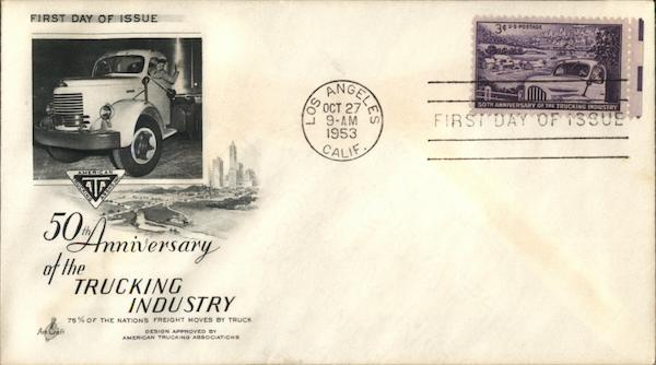 50th Anniversary Pure of the Trucking Industry First Day Covers