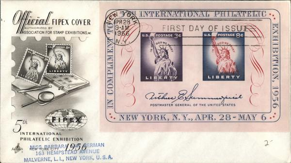 5th International Philatelic Exhibition First Day Covers