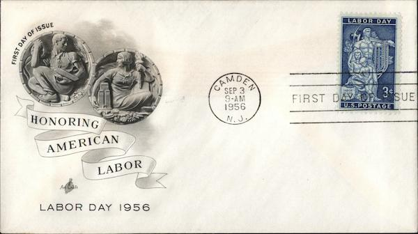 Honoring American Labor - Labor Day 1956 First Day Covers